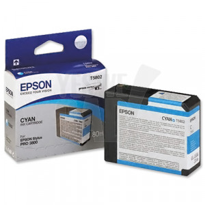EPSON STYLUS PRO 3800 / 3880 - C13T580200 - Cartouche d'encre - 1 x cyan pigmentée - 80 ml