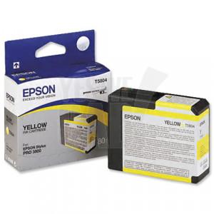 EPSON STYLUS PRO 3800 / 3880 - C13T580400 - Cartouche d'encre d'origine - 1 x jaune pigmentée - 80 ml