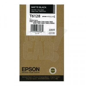EPSON STYLUS PRO 7400 / 7450 / 7800 / 7880 / 9400 / 9450 / 9800 / 9880 - C13T612800 - Cartouche d'encre d'origine - 1 x noire mat - 220 ml