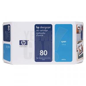 HP 80 - C4846A - Cartouche d'encre d'origine - 1 x cyan - 350 ml