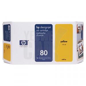 HP 80 - C4848A - Cartouche d'encre d'origine - 1 x jaune - 350 ml