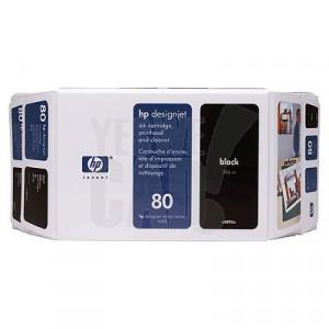 HP 80 - C4871A - Cartouche d'encre d'origine - 1 x noire - 350 ml