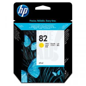 HP 82 - C4913A - Cartouche d'encre d'origine - 1 x jaune - 69 ml