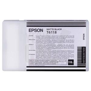 EPSON STYLUS PRO 7400 / 7450 / 7800 / 7880 / 9400 / 9450 / 9800 / 9880 - C13T611800 - Cartouche d'encre - 1 x noir mat - 110 ml