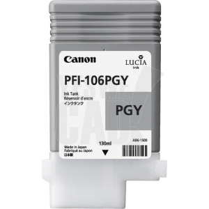 CANON PFI-106PGY - 6631B001AA - Cartouche d'encre d'origine - 1 x grise photo - 130 ml