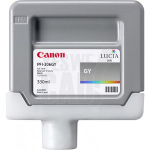 CANON PFI-306GY - 6666B001AA - Cartouche d'encre d'origine - 1 x grise - 330 ml