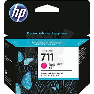 HP 711 - CZ135A - Cartouche d'encre - 3 x magenta - Pack de 3 x 29 ml