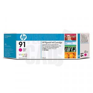 HP 91 - C9468A - Cartouche d'encre d'origine - 1 x magenta à pigments - 775 ml