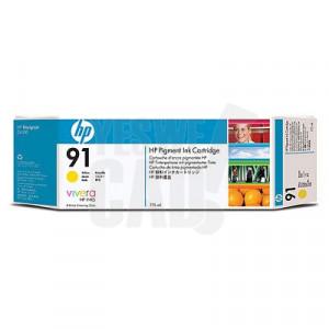 HP 91 - C9469A - Cartouche d'encre d'origine - 1 x jaune à pigments - 775 ml