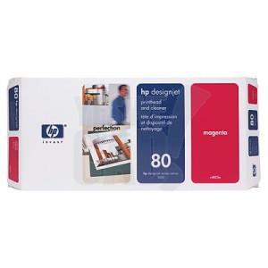 HP 80 - C4822A - Tête d'impression d'origine et dispositif de nettoyage - 1 x magenta