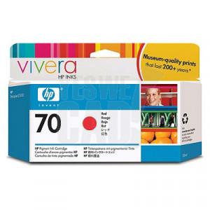 HP 70 - C9456A - Cartouche d'encre d'origine - 1 x rouge - 130 ml