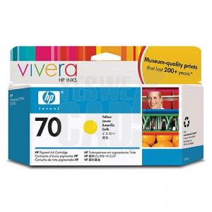 HP 70 - C9454A - Cartouche d'encre d'origine - 1 x jaune - 130 ml
