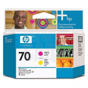 HP 70 - C9406A - Têtes d'impression d'origine - 1 x magenta et 1 x jaune