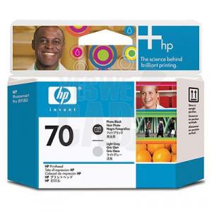HP 70 - C9407A - Têtes d'impression d'origine - 1 x noir photo et 1 x gris clair