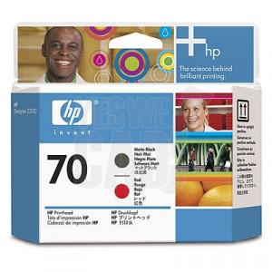 HP 70 - C9409A - Têtes d'impression d'origine - 1 x noir mat et 1 x rouge