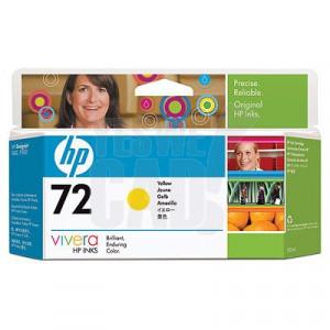 HP 72 - C9373A - Cartouche d'encre d'origine - 1 x jaune - 130 ml