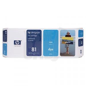 HP 81 - C4931A - Cartouche d'encre - 1 x cyan - 680 ml