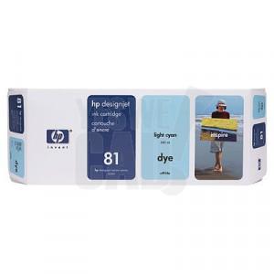 HP 81 - C4934A - Cartouche d'encre d'origine - 1 x cyan claire - 680 ml
