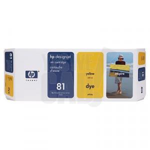 HP 81 - C4933A - Cartouche d'encre d'origine - 1 x jaune - 680 ml