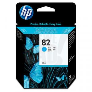 HP 82 - C4911A - Cartouche d'encre d'origine - 1 x cyan - 69 ml
