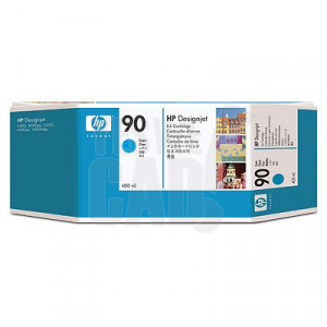 HP 90 - C5061A - Cartouche d'encre d'origine - 1 x cyan - 400 ml
