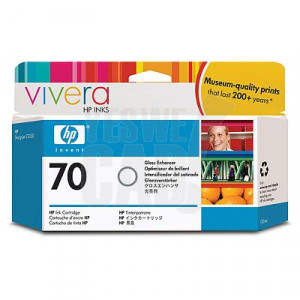 HP 70 - C9459A - Cartouche d'encre effet ultra brillant d'origine - 1 x transparente - 130 ml