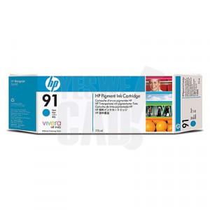 HP 91 - C9467A - Cartouche d'encre d'origine - 1 x cyan à pigments - 775 ml
