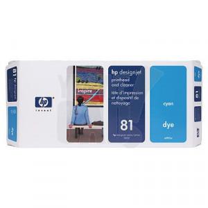 HP 81 - C4951A - Tête d'impression teintée d'origine et dispositif de nettoyage - 1 x cyan