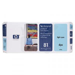 HP 81 - C4954A - Tête d'impression d'origine et dispositif de nettoyage - 1 x cyan claire