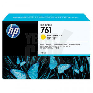 HP 761 - CM992A - Cartouche d'encre d'origine - 1 x jaune - 400 ml