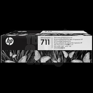 HP 711 - C1Q10A - Tête d'impression d'origine - 1 x cyan, magenta, jaune, noir