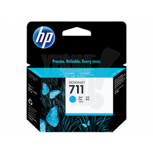HP 711 - CZ130A - Cartouche d'encre d'origine - 1 x cyan - 38 ml