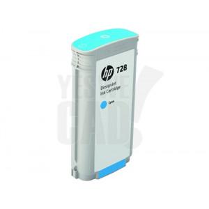 HP 728 - F9J67A - Cartouche d'encre - 1 x cyan - 130 ml