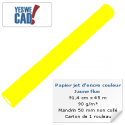 Rouleau de papier jet d'encre jaune fluo - 91,4 cm x 45m - 95 g/m²