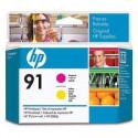 HP 91 - C9461A - Magenta et Jaune