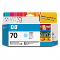 HP 70 - C9390A - Cartouche d'encre d'origine - 1 x cyan claire - 130 ml