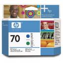 HP 70 - C9408A - Bleu et Vert