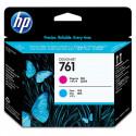 HP 761 - CH646A - Têtes d'impression d'origine - 1 x cyan et 1 x magenta