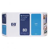 HP 80 - C4846A - Cartouche d'encre - 1 x cyan - 350 ml