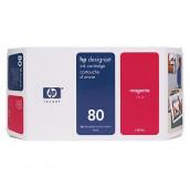 HP 80 - C4847A - Cartouche d'encre - 1 x magenta - 350 ml