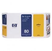 HP 80 - C4848A - Cartouche d'encre - 1 x jaune - 350 ml