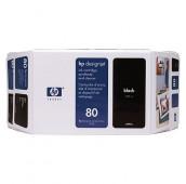HP 80 - C4871A - Cartouche d'encre - 1 x noir - 350 ml