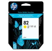 HP 82 - C4913A - Cartouche d'encre - 1 x jaune - 69 ml