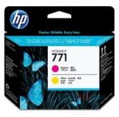 HP 771 - CE018A - Têtes d'impression - 1 x magenta et 1 x jaune