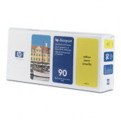 HP 90 - C5057A - Tête d'impression et dispositif de nettoyage - 1 x jaune