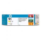 HP 91 - C9469A - Cartouche d'encre - 1 x jaune à pigments - 775 ml