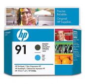 HP 91 - C9460A - Têtes d'impression - 1 x noir mat et 1 x cyan