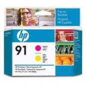 HP 91 - C9461A - Têtes d'impression - 1 x magenta et 1 x jaune