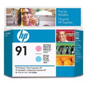 HP 91 - C9462A - Têtes d'impression - 1 x magenta claire et 1 x cyan claire