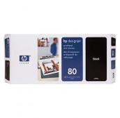 HP 80 - C4820A - Tête d'impression et dispositif de nettoyage - 1 x noir